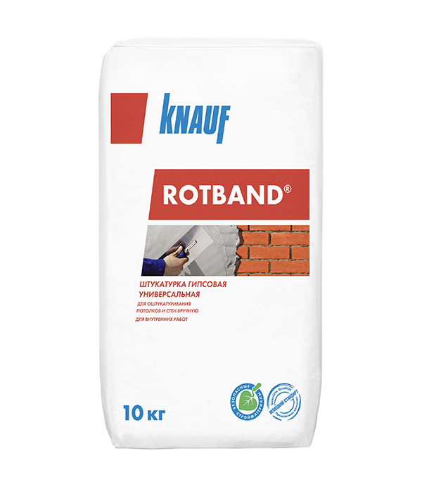 "Штукатурка гипсовая""Rotband"" (10 кг.) Knauf (110) (шт.)"