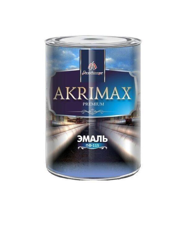 """Эмаль Алкидная ПФ-115 """"AKRIMAX-PREMIUM"""" Чёрная 1,7 кг"""