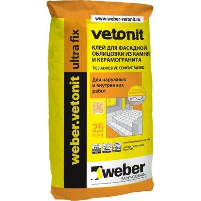Weber ULTRA Fix Клей плиточный эластичный, 25 кг (48)