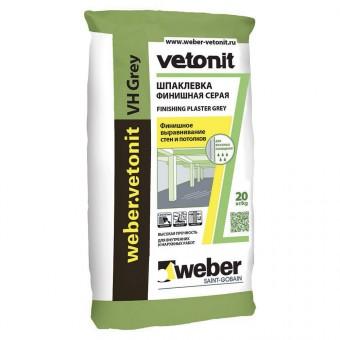 Weber VH (GREY)(Влагостойкая финишная цементная Шпаклёвка) (20 кг) (48) (шт)