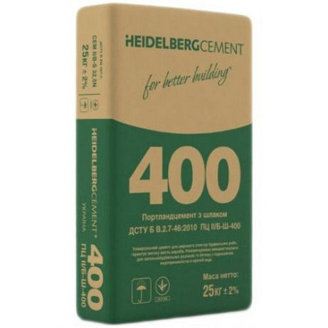Цемент ПЦ II/Б-Ш-400 тара (мешок 25кг)
