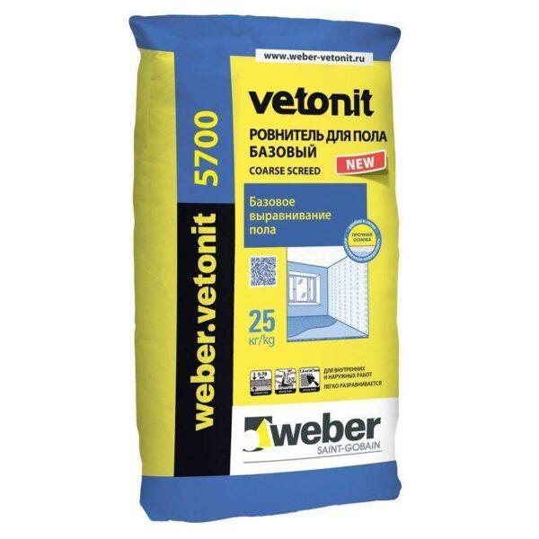 Weber 5700 (Выравнивающая смесь для пола) (25кг) (48) (шт)