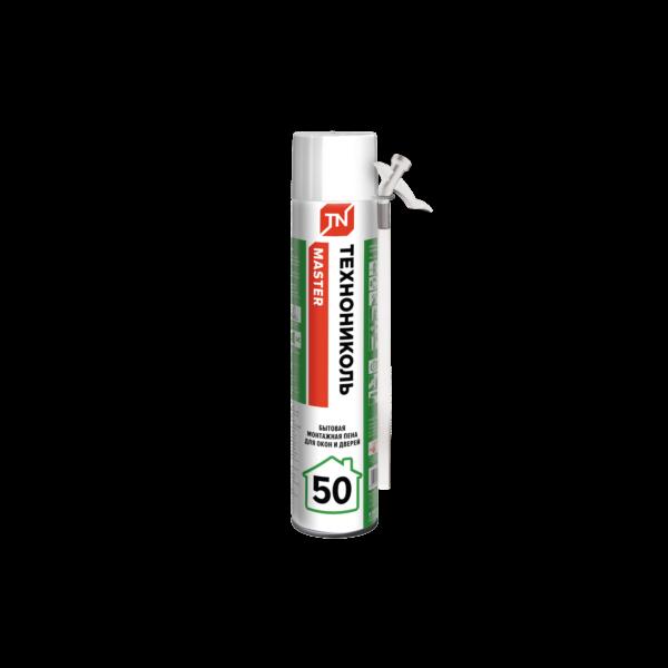 Пена монтажная всесезонная ТехноНиколь MASTER 50 бытовая 640гр (50 л) (12шт)