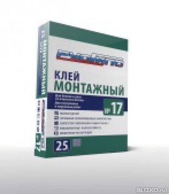 РусГипс №17, 25кг Клей Монтажный для Блоков и плит из ячеистого бетона (56)