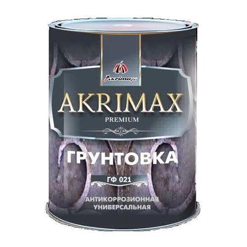 "Грунт ГФ - 021 ""AKRIMAX - PREMIUM"" Красно-коричневый 0,85 кг"