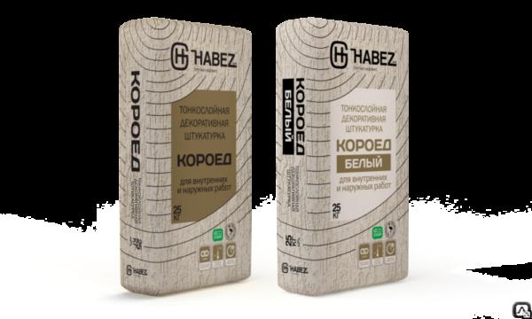 "HABEZ - Штукатурка ""КОРОЕД"" (Серый),зерно-2,5мм, 25 кг (56 шт)"
