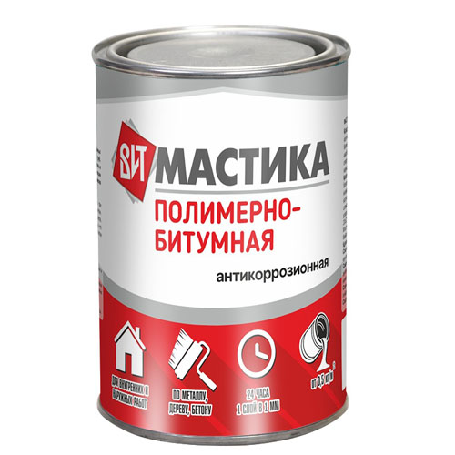 Мастика Полимерно - битумная 0,8 кг
