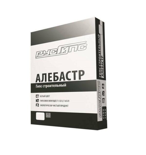 РусГипс Г-5, 25 кг Алебастр(вяжущая), Гипс строительный (48) (шт.)