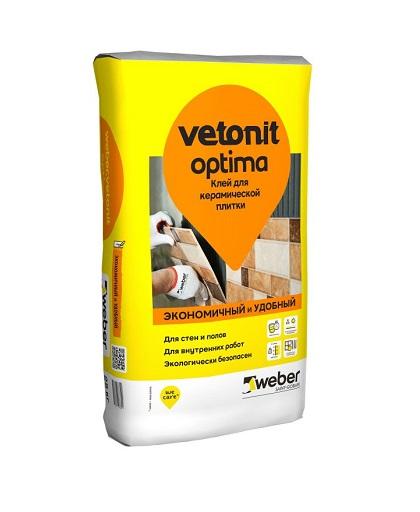 Weber vetonit OPTIMA (клей для плитки для внутр. работ) (25 кг) (48) (шт)