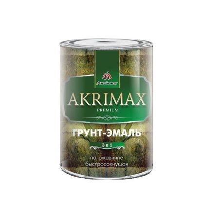 """Грунт-Эмаль 3 в 1 ГЛЯНЦЕВАЯ """"AKRIMAX-PREMIUM"""" Коричневая 0,8 кг"""