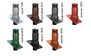 К81 (К22) Вентиляционный выход WiroVent Plus (изолированный) D 125/110 мм Н 500 мм с проходным элементом для гибкой битумной кровли (при монтаже) и с переходником 125/110 мм