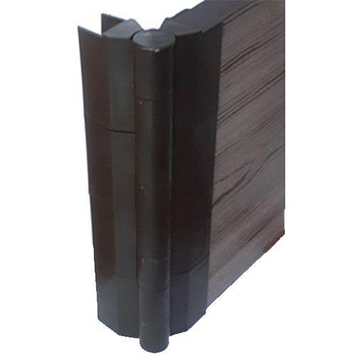 Угловой поворотный элемент для высокой грядочной доски из ДПК 300*30мм