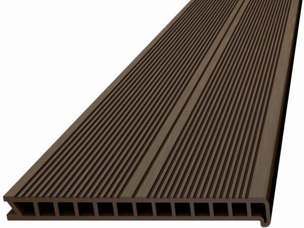 Ступень из ДПК Deckron. Пустотелая с брашингом. 320x28х4000 мм
