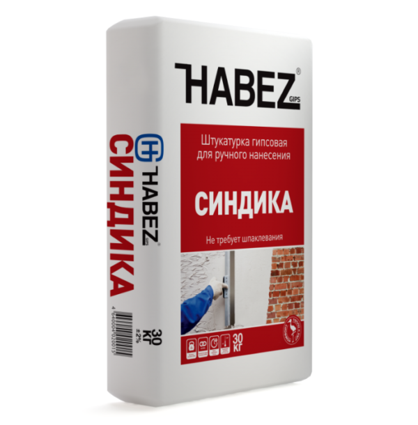HABEZ - Штукатурка гипсовая СИНДИКА (ручн. нанесения), 25 кг