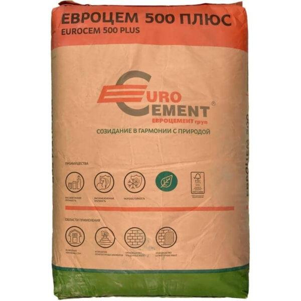Цемент ЦЕМ I 42,5 НТУ 500+ 25 кг Д0 (Евро Цемент) (70шт)