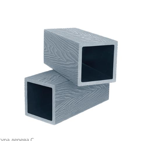 "Столб ""POLIVAN"" 3D 124х124 х3000 Черный, Темно-Коричневый"