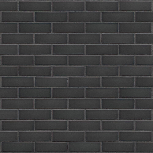 Клинкерная фасадная плитка Black stone (26) King Klinker