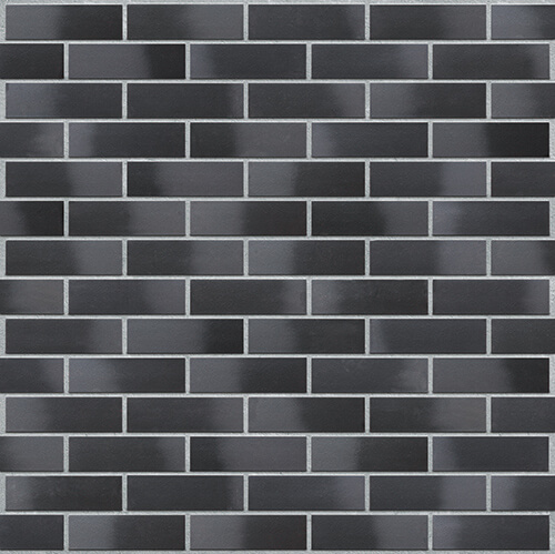Клинкерная фасадная плитка Black diamond (33) King Klinker