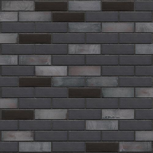Клинкерная фасадная плитка Black river (36) King Klinker